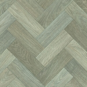 Vinyl Wood & Concrete light beige & grey chevrons 1026